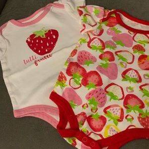 Other - Strawberry onesies